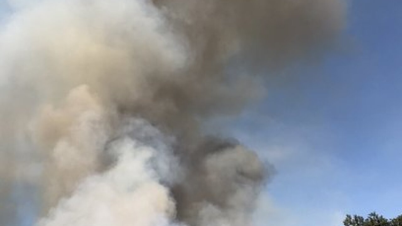 Cajon Pass brush fire prompts partial I-15 closure