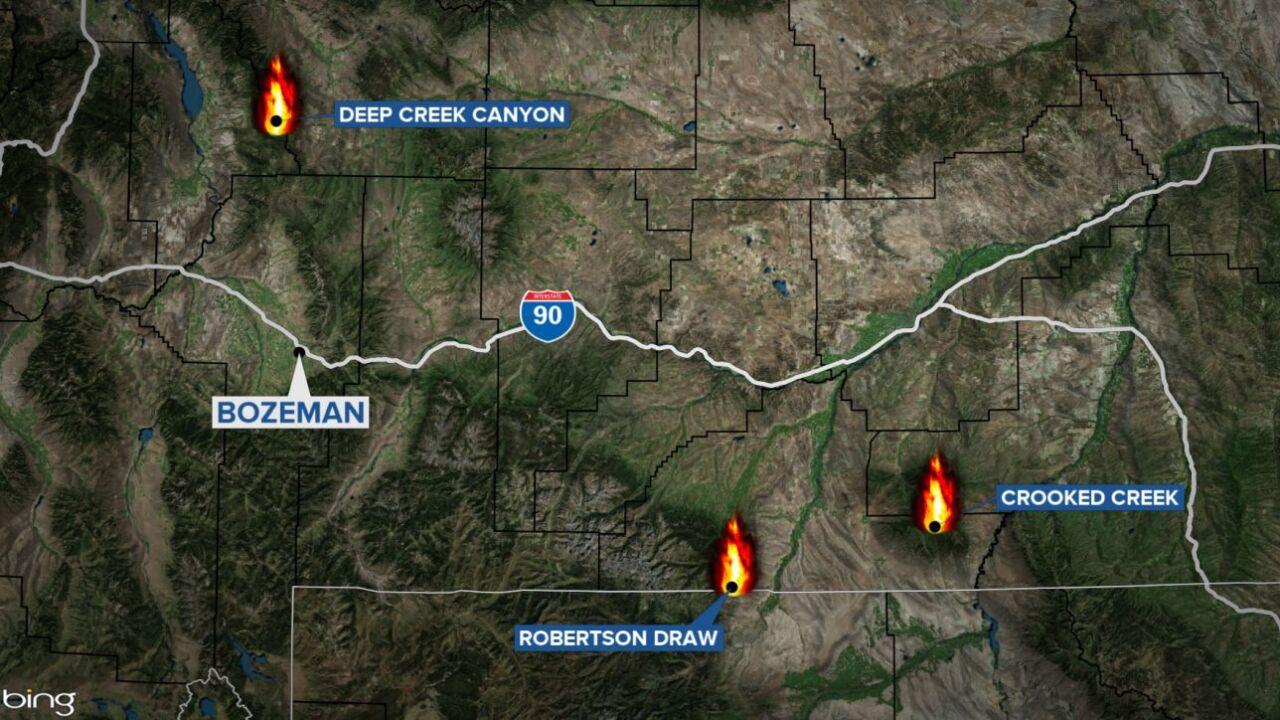 three major fires in montana june 17