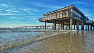 Beautiful Blue Skies at Bob Hall Pier - Photo By: FB Coastal Bend Weather Watcher Lu Ann Kingsbury