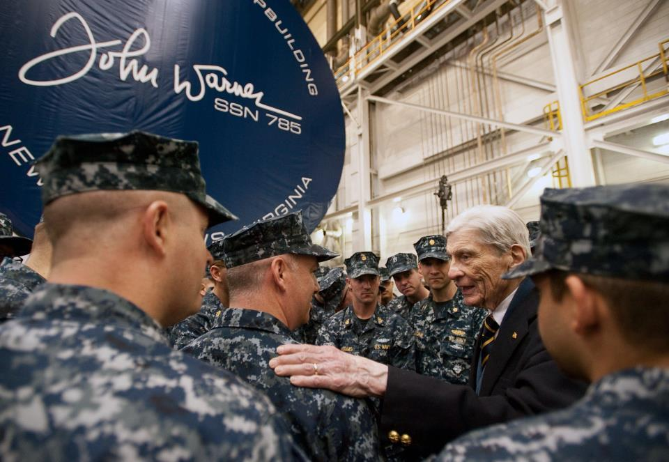 Photos: Shipyard holds keel-laying ceremony for the USS JohnWarner