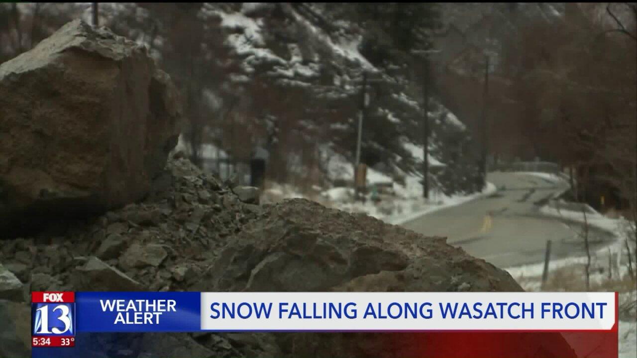 Rock slide forces road closure in OgdenCanyon