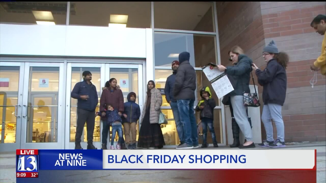 Early 'Black Friday shoppers notice shorter lines, smaller crowds in Utah