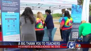H-E-B bus visits area schools