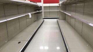 Target empty shelves