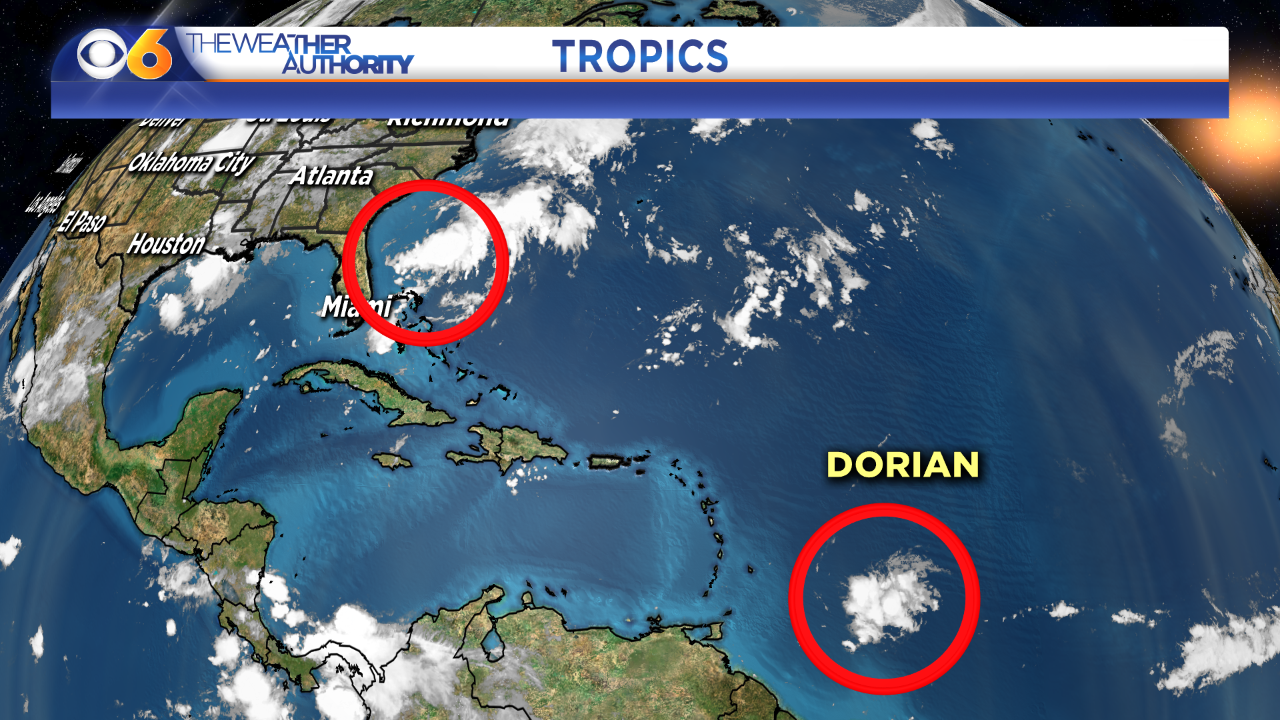 Dorian may become season's second hurricane