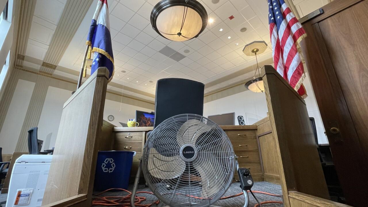Fan in Jackson County Courtroom
