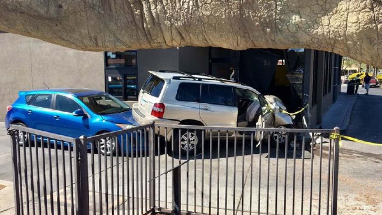 Vehicle crashes into McDonalds