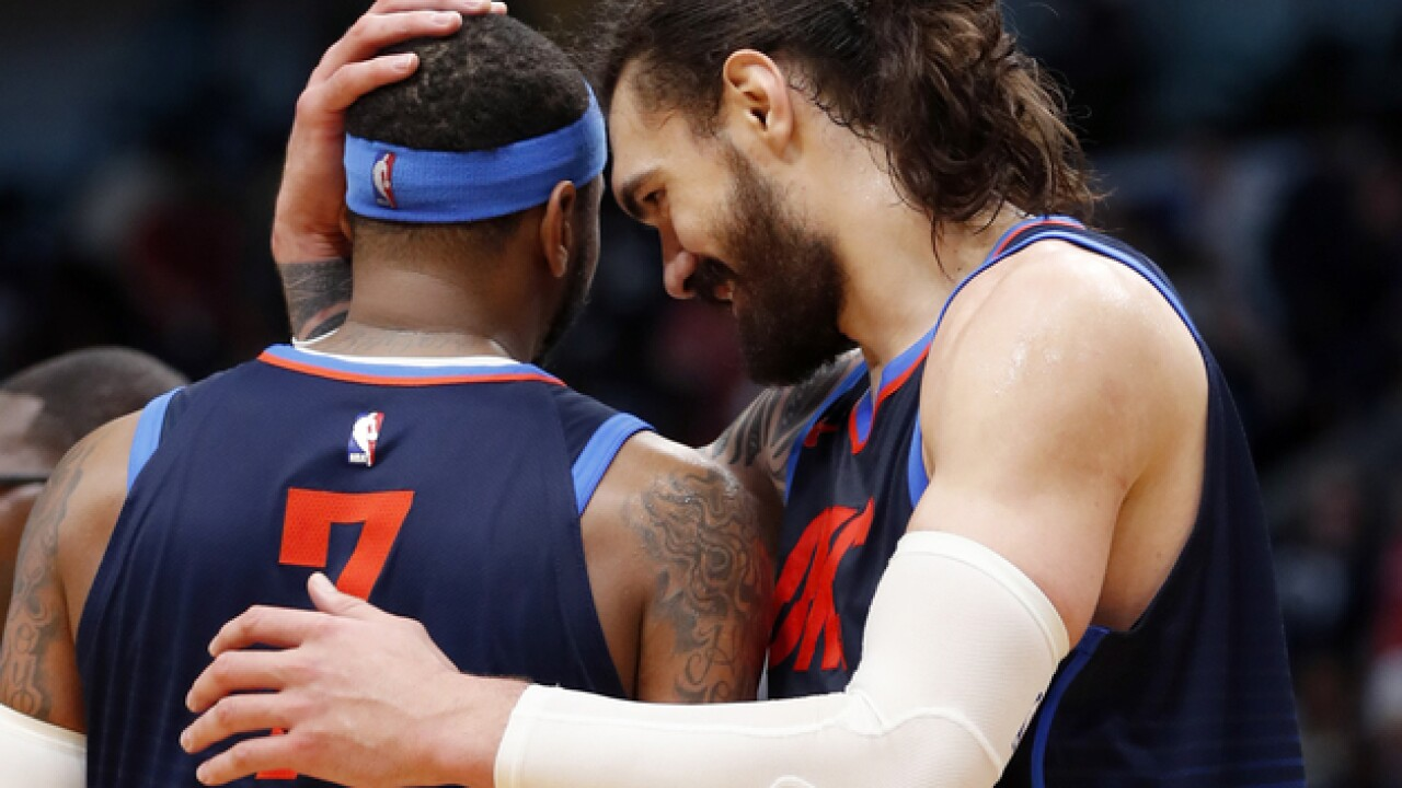 Steven Adams blames 'like' of comment dissing Carmelo Anthony on 'fat fingers'