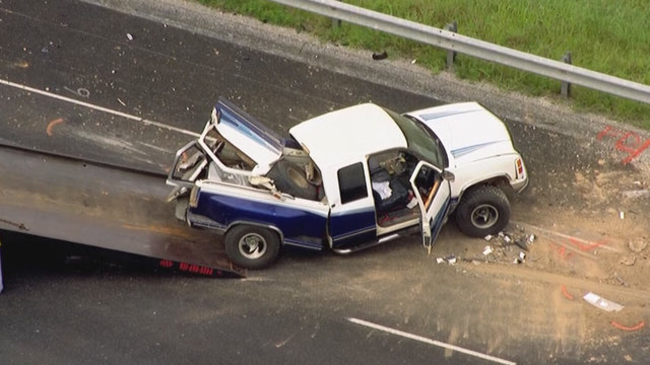 12 Injured In 2-Car Wreck On I-65 In Maury Co.