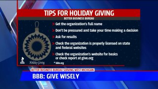 BBB: Give wisely this holiday season