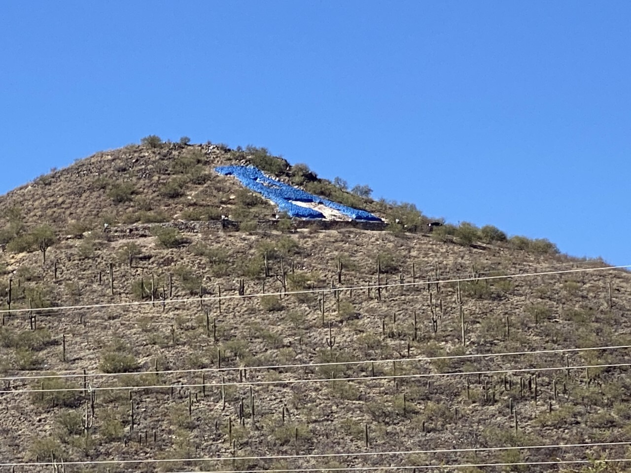 """A"" Mountain also known as Sentinel Peak"