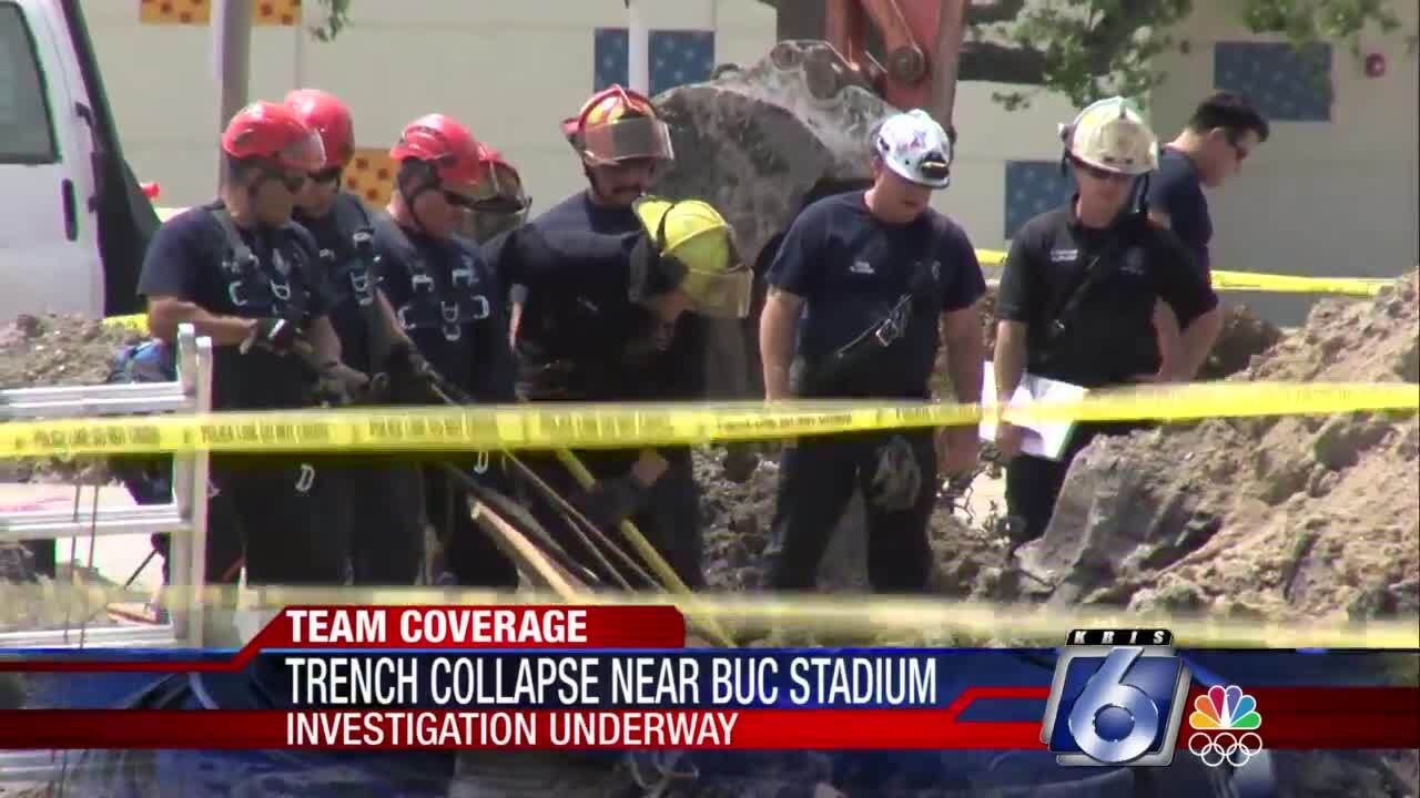 Trench collapse near Buc Stadium