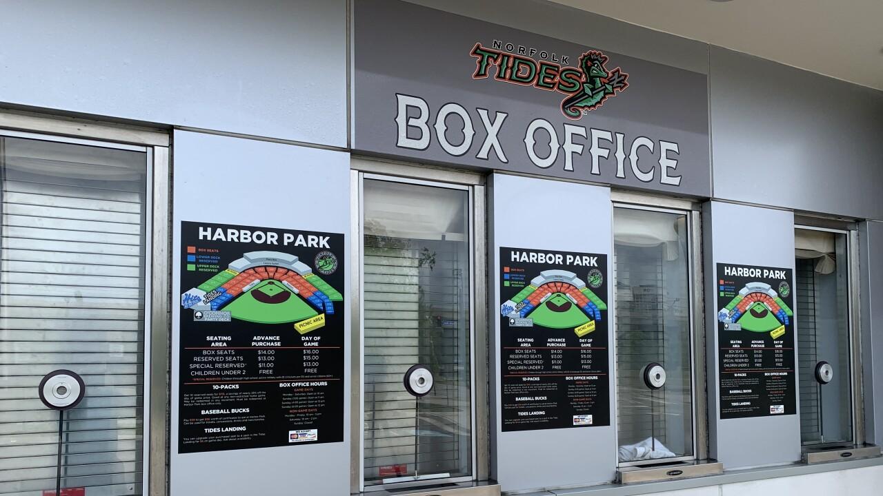 Norfolk Tides box office at Harbor Park
