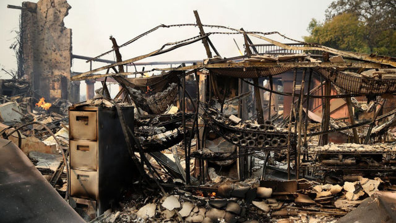 Photos of damage from wildfires in Northern California show devastation