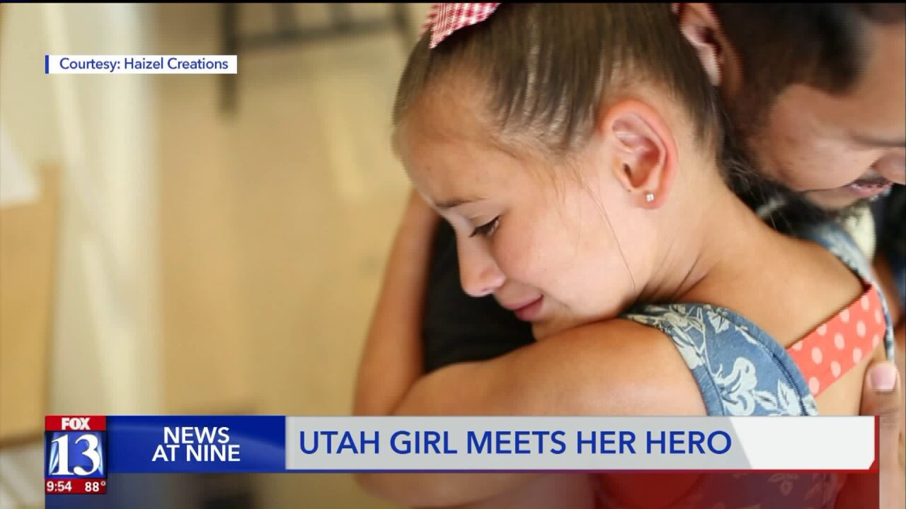 Heartwarming moment caught on camera as Utah girl meets donor who saved her life