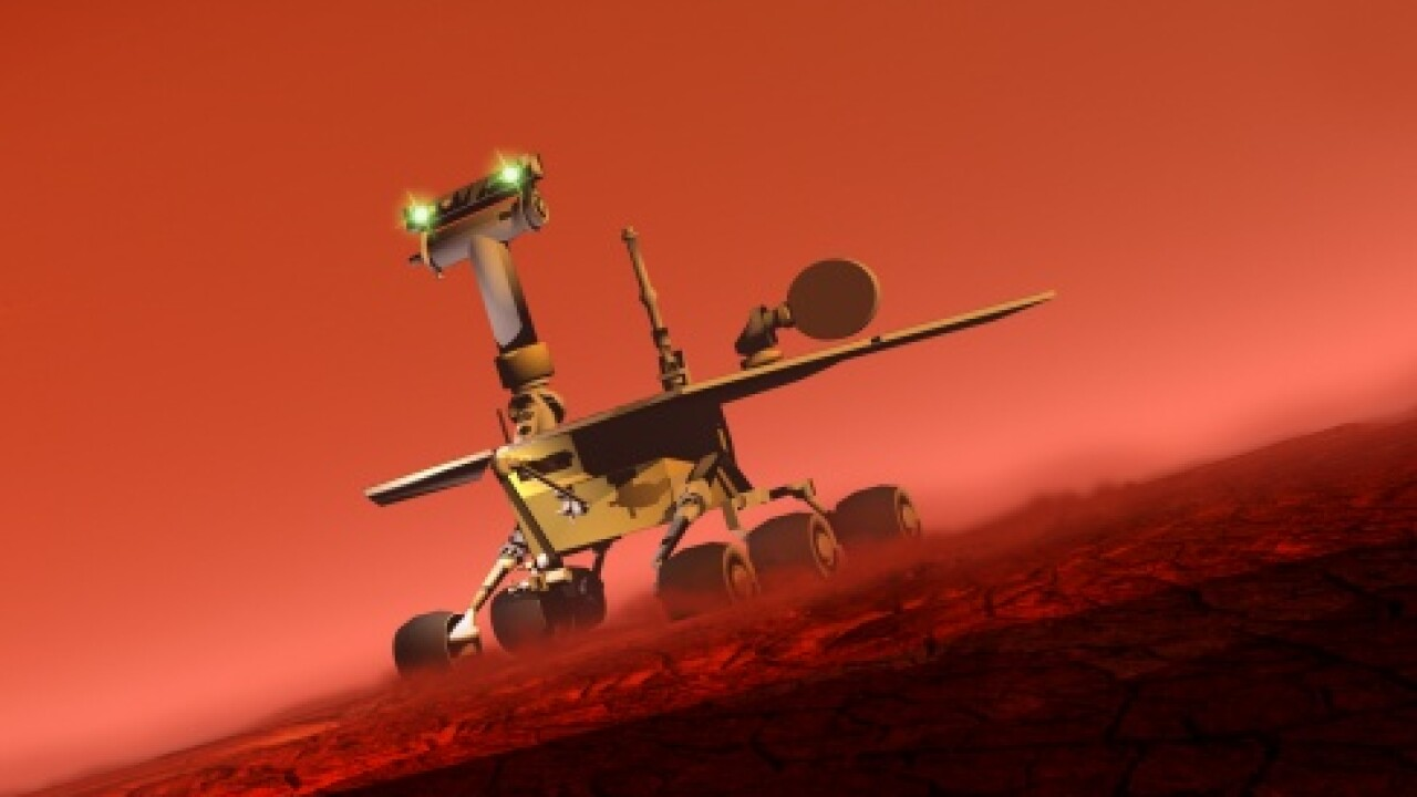 mars rover illustration