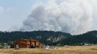 Wildfire near Hays-Lodgepole Rod Benson