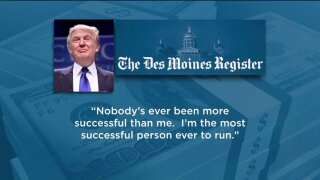 Trump says Romney isn'trich