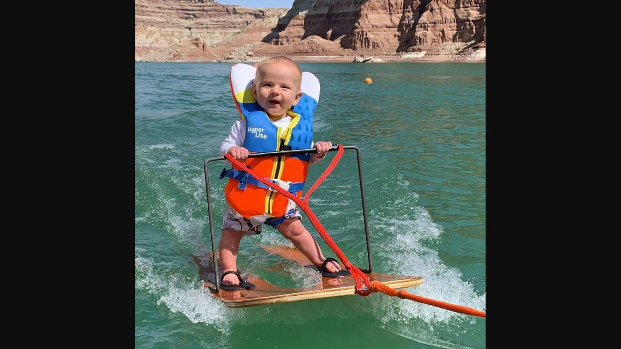 Utah 6-month-old sets record for youngest water-skier