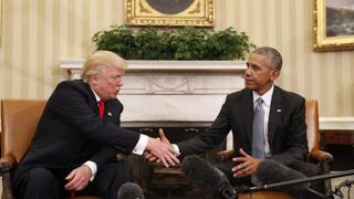 Presidents Trump & Obama tied as most admired men in the U.S.