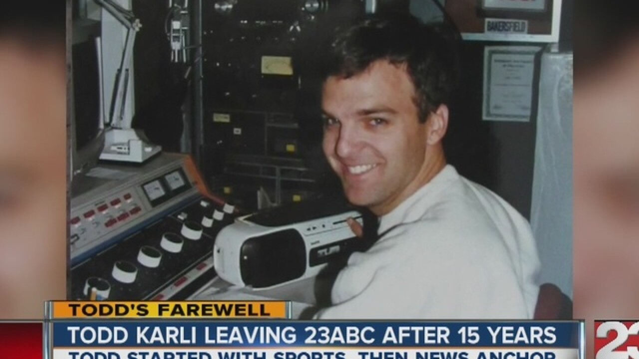 Todd Karli leaving 23ABC after 20 years