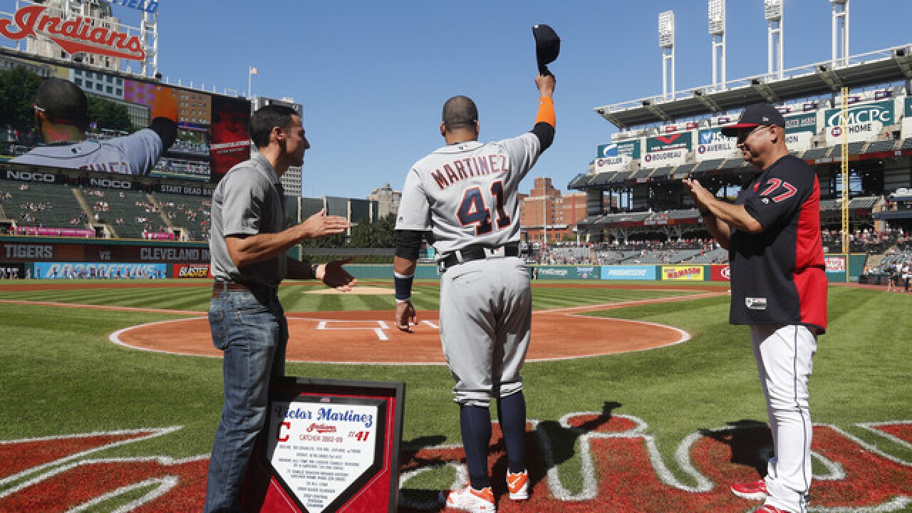 Farewell Friend: Indians honor Victor Martinez in pregame ceremony