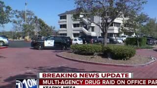 Multi-agency drug raid on office park