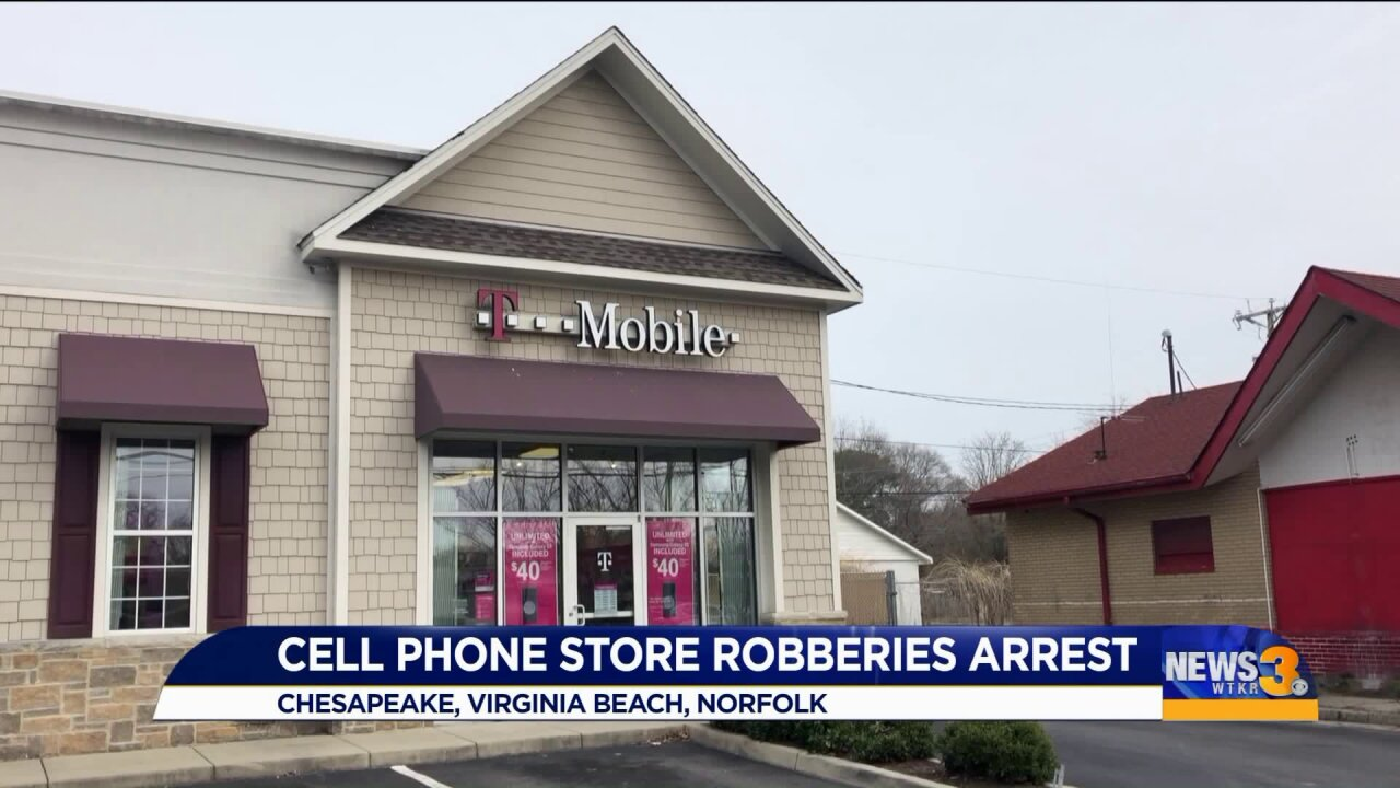 Six men behind bars after hitting several cell phone stores while armed
