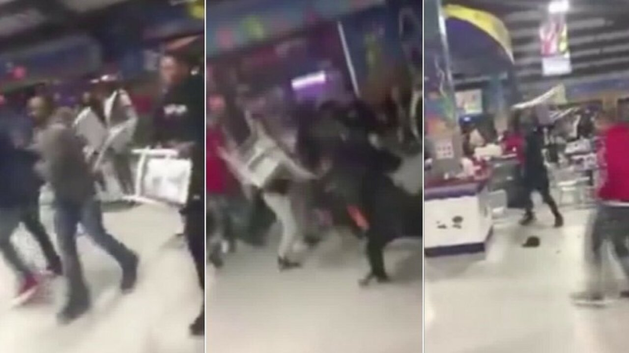 Video: Chairs fly as wild brawl breaks out in New York Cityrestaurant