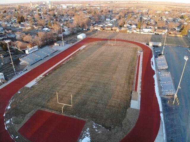 Sidney High School football field and track