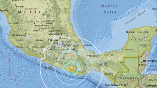 5.9-magnitude earthquake hits southern Mexico, but no damage reported