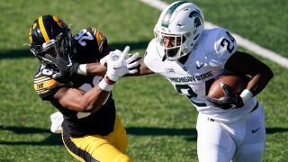Goodson rushes for 113 yards as Iowa wallops Michigan State
