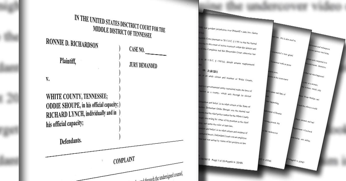 Wrongly arrested man files federal lawsuit against former