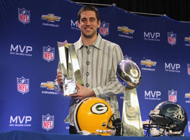 Aaron Rodgers through the years