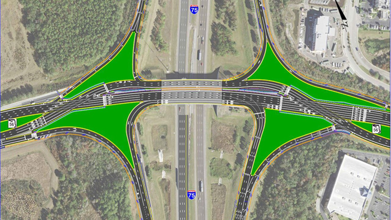 New Diverging Diamond Interchange At I 75 State Road 56 Intersection To Ease Traffic