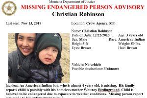 Missing/Endangered Person Advisory for Christian Robinson