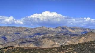 Cumulus over highway 166