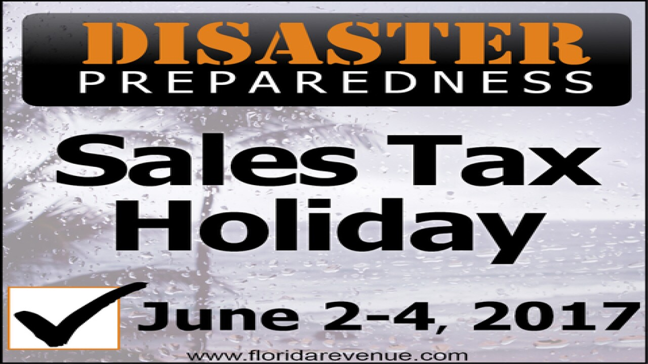 Be prepared and save money: Hurricane supplies will be tax-free June 2-4, 2017