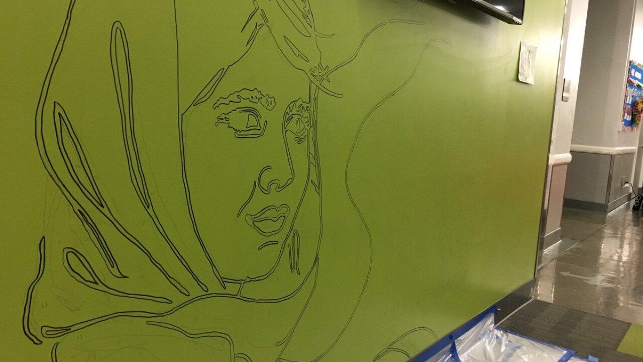 MLK mural Northeast Middle School