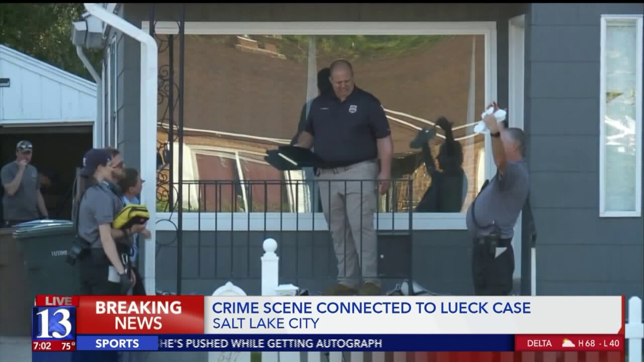 SLC Police gathering evidence at crime scene connected to search for MacKenzieLueck