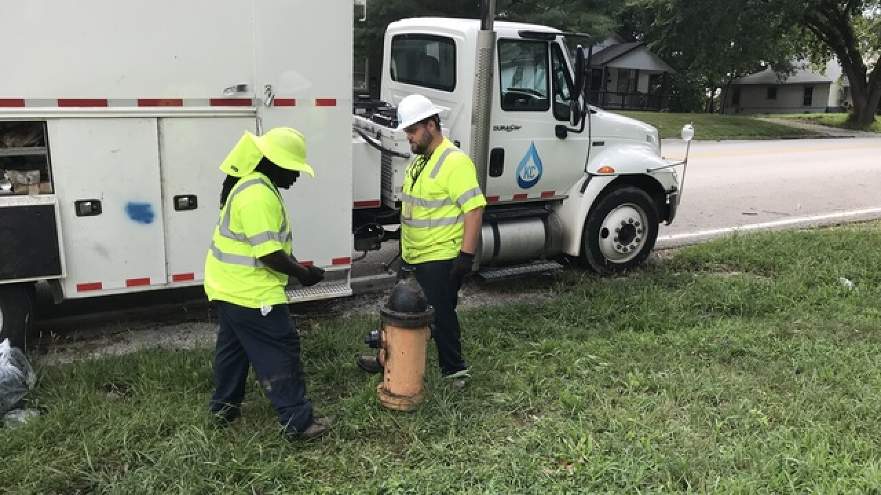 KC Water busy fixing vandalized fire hydrants