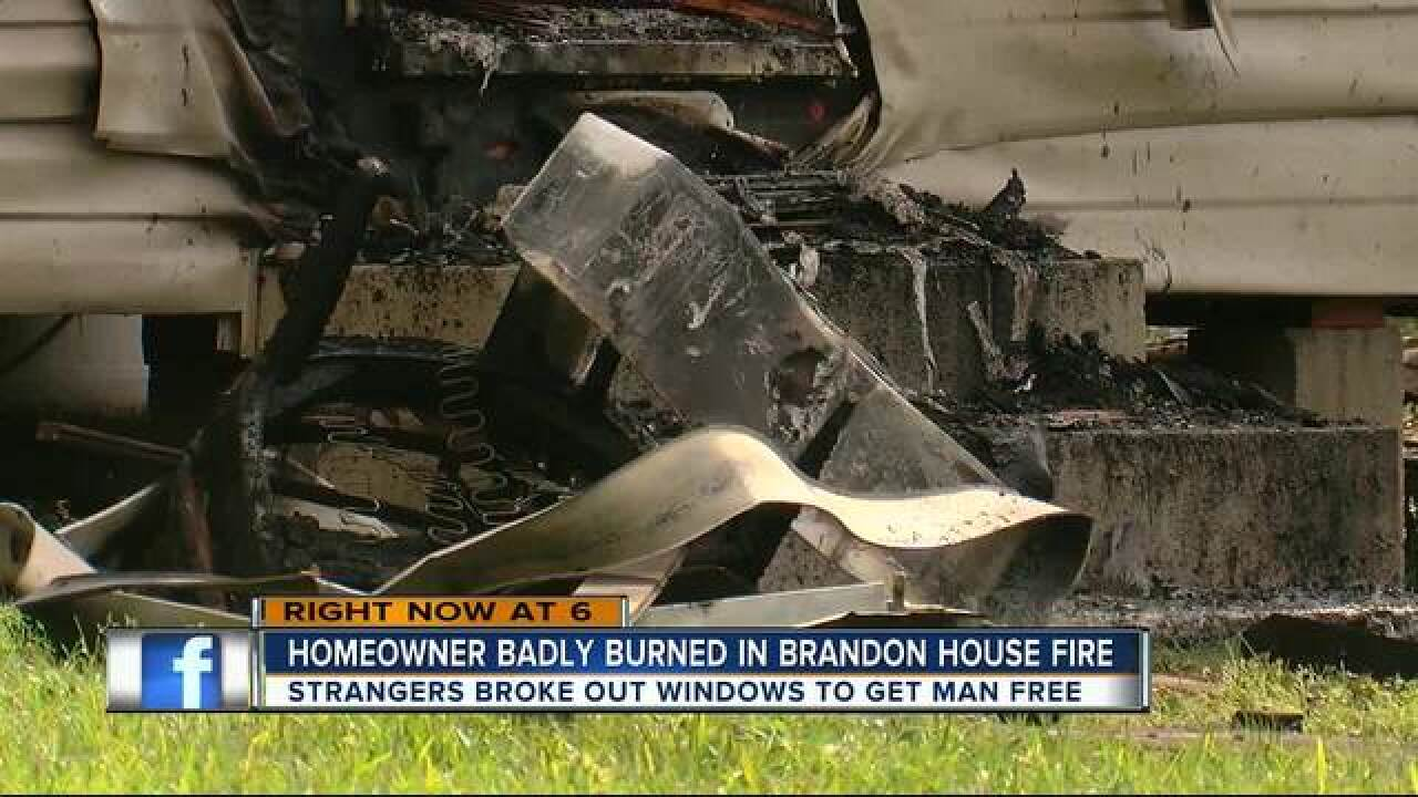 One victim burned in Brandon house fire