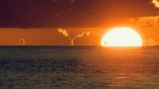 Sunset on Lido Key, Florida.