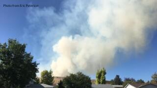 Fire near Hill 57 in Great Falls