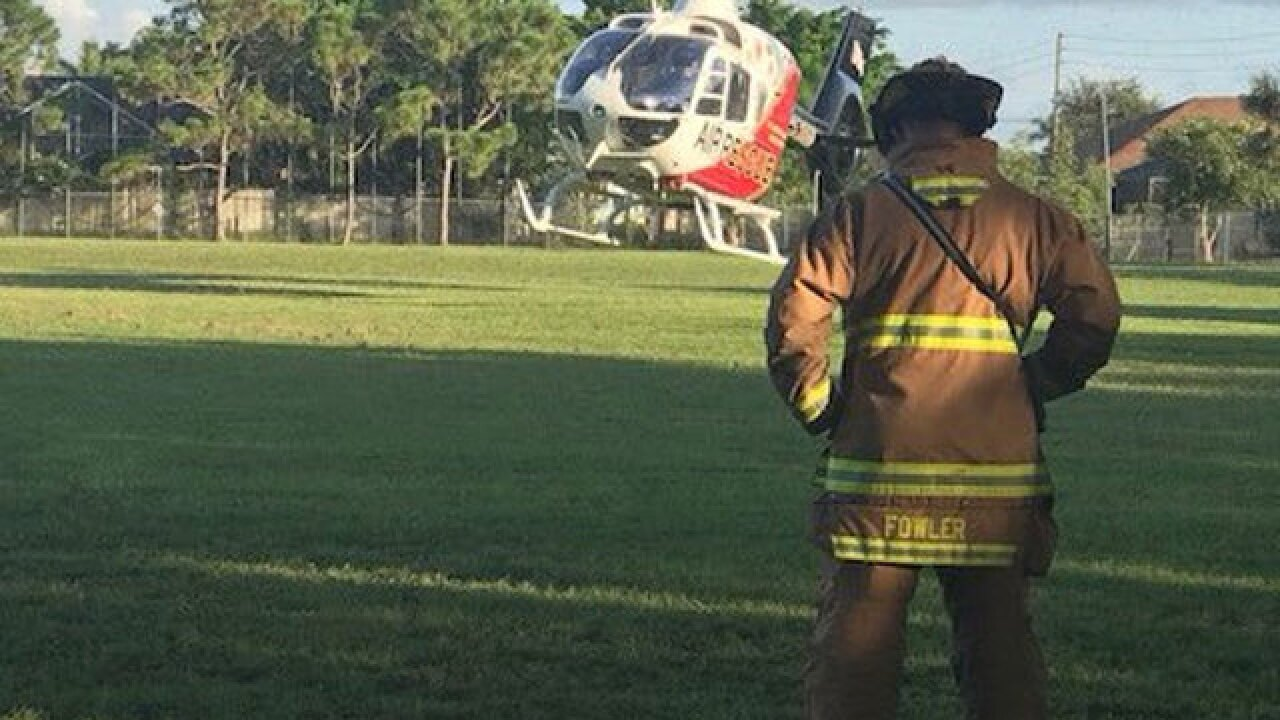 Man injured while working under truck in Port St. Lucie