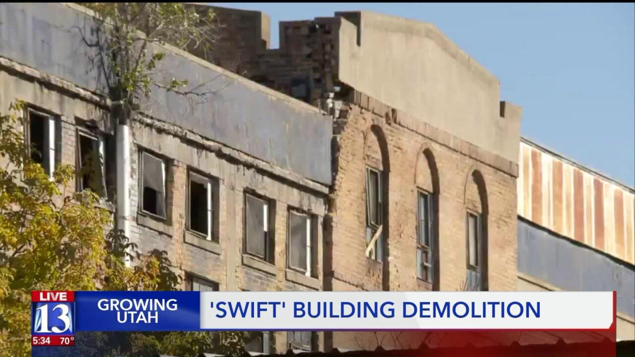 Demolition begins on Swift building in Ogden after major EPAcleanup
