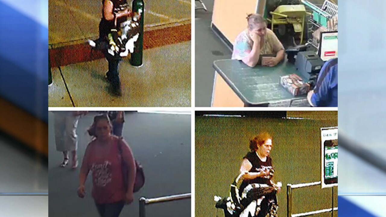 Police: Security video shows women stealing security cameras
