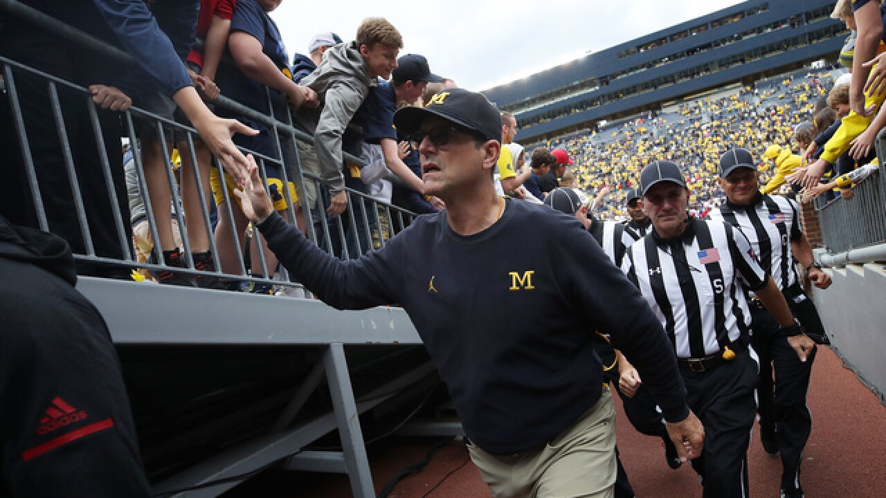 WATCH: Jim Harbaugh admires Tiger Woods' over-40 success