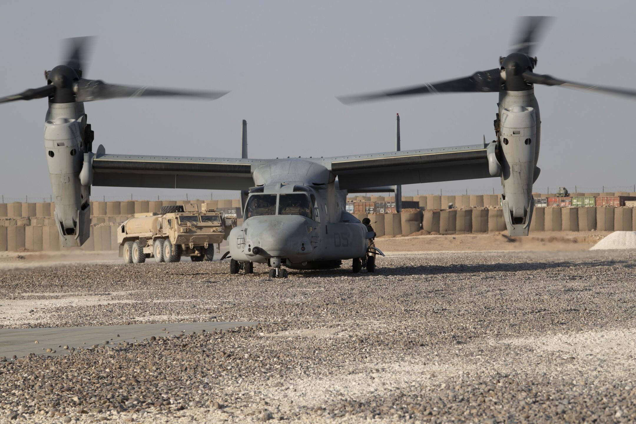 Ospreys refuel