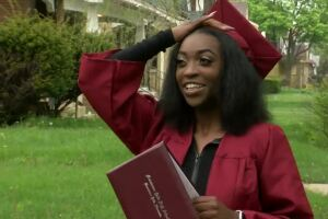 'I'm going to cherish every moment': Dad in hospice care watches daughter graduate